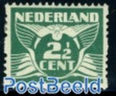 Netherlands 1925 2.5c 2-side Syncoperf. Without WM,Stamp Out Of Set, (Unused (hinged)), Stamps - Period 1891-1948 (Wilhelmina)