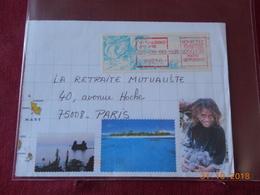 Lettre De 1999 Avec Vignette De Distributeur - Viñetas De Franqueo