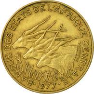 Monnaie, États De L'Afrique Centrale, 10 Francs, 1977, Paris, TB+ - Centrafricaine (République)