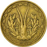 Monnaie, French West Africa, 25 Francs, 1957, Paris, TB+, Aluminum-Bronze, KM:9 - Côte-d'Ivoire