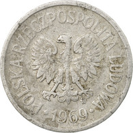 Monnaie, Pologne, 10 Groszy, 1969, Warsaw, TB, Aluminium, KM:AA47 - Pologne