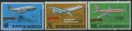 Indonesia 1979 Garuda Airways 3v, (Mint NH), Transport - Aircraft & Aviation - Aviones