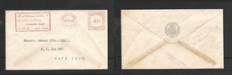 S.Africa, Meter Frank, 1 1/2d, Domestic Sealed Envelope Standard Bank (Bill Dept)CAPE TOWN 26 XI 40 - South Africa (...-1961)