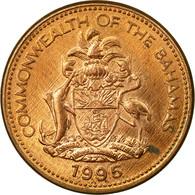 Monnaie, Bahamas, Elizabeth II, Cent, 1995, Franklin Mint, TB+, Copper Plated - Bahamas
