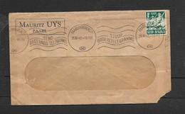 S.Africa, MAURITZ UYS, PAARL, Window Envelope, 1/2d, PAARL (HUGUENOT) 25 IV 42 + SEND GREETINGS TELEGRAMS_ - South Africa (...-1961)