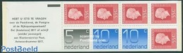 Netherlands 1976 1x5c, 2x0c, 5x55c Booklet, (Mint NH), Stamps - Stamp Booklets - Carnets Et Roulettes