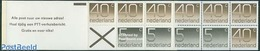 Netherlands 1976 4x5c, 7x40c Booklet, (Mint NH), Stamps - Stamp Booklets - Carnets Et Roulettes