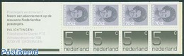 Netherlands 1985 4x5c, 4x70c Booklet, (Mint NH), Stamps - Stamp Booklets - Carnets Et Roulettes
