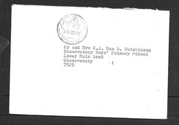 S.Africa, Unfranked, CAPE TOWN CASTLE 23 III 76 C.d.s. > Observatory - South Africa (1961-...)