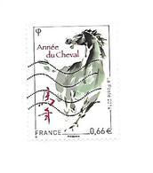 Année Lunaire Chinoise Du Cheval 4835 Oblitéré 2014 - France