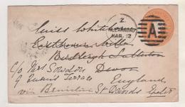 INDE ENTIER POSTAL 1883 ALLAHABAD POUR LA GRANDE BRETAGNE - VOIR DETAIL SUR LES SCANNERS - Inde