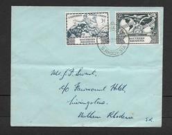 Southern Rhodesia, U.P.U. 3d, 2d, Plain FDC,  VICTORIA FALLS SOUTHERN RHODESIA 10 OCT 49 C.d.s. - Southern Rhodesia (...-1964)