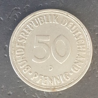 HX - Germany 1966 D 50 Pfenning Coin - [ 7] 1949-… : FRG - Fed. Rep. Germany