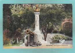 Old Post Card Of Wellington`s Monument,Gibraltar,R58. - Gibraltar