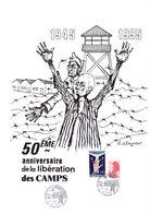 """Unique Sur D* : """" 50 ème ANNIVERSAIRE DE LA LIBERATION DES CAMPS """" Sur Document A4 De 1995. Parfait état - Guerre Mondiale (Seconde)"""