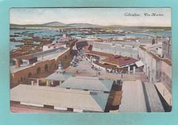 Old Post Card Of The Market,Gibraltar,R58. - Gibraltar