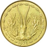 Monnaie, West African States, 5 Francs, 1975, Paris, TB+ - Côte-d'Ivoire