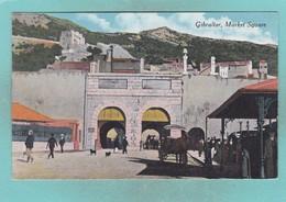 Old Post Card Of Market Square,Gibraltar,R58. - Gibraltar