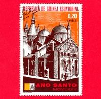 GUINEA EQUATORIALE - 1974 (1975) - Anno Santo 1975, Chiese - S. Antonio Di Padova - 0.20 - Guinea Equatoriale