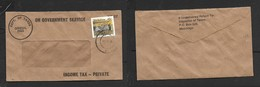 Zimbabwe ON GOVERNMENT SERVICE INCOME TAX OFFICIAL FREE + 45c Stamp MASVINGO 01 11 96 - Zimbabwe (1980-...)