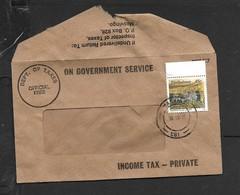 Zimbabwe ON GOVERNMENT SERVICE INCOME TAX OFFICIAL FREE + 45c Stamp MASVINGO 30.10. 96 - Zimbabwe (1980-...)