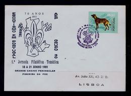 AEP 30 Agroupment 1911-1981 Boy Scouts Scouting Scoutisme Portugal FIGUEIRA DA FOZ (pmk 2R-cover) Gc3656 - Cartas