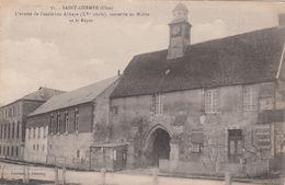 Cp , 60 , SAINT-GERMER , L'entrée De L'ancienne Abbaye (XVe S.), Convertie En Mairie Et Le Repos - Altri Comuni