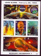 {{{ MONGOLIA SPACE  FAMOUS USA ASTRONAUT JOHN GLENN NASA SHUTTLE DISCOVERY {{{ IMPERF }}} MINI SHEET MNH SUPERB }}} - Space