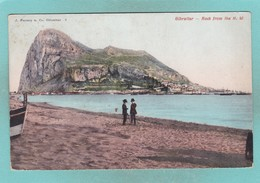 Old Post Card Of The Rock From The N.W.,Gibraltar,R58. - Gibraltar