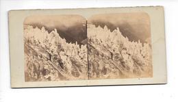 Photo Stéréo Chamonix 1858-1859 Sérac Glacier Des Bois - Photos Stéréoscopiques