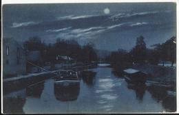 54. PONT-à-MOUSSON - La Nuit - Vue Sur Le Canal - Pont A Mousson