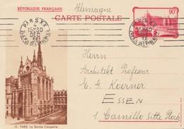 Frankreich: 1936: Carte Postale-Ganzsache Von Paris Nach Essen - Non Classés