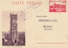 Frankreich: 1936: Ganzsache Nach St. Gallen/Schweiz - Non Classés