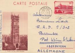 Frankreich: 1937: Ganzsache Cognac Nach Post Krüm/Bayern - Non Classés
