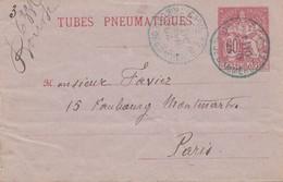 Frankreich: 1894 Ganzsache/Tubes Pneumatiques-Rohrpost Paris RK3 - Non Classés
