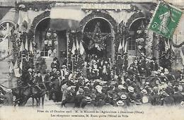 61)   DOMFRONT  - Fêtes Du 18 Octobre 1908 M. Le Ministre De L' Agriculture  - Les Réception Terminée M. Ruau Quitte ... - Domfront
