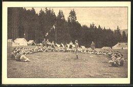 AK Les Eclaireurs De France, Au Camp - Pfadfinder-Bewegung