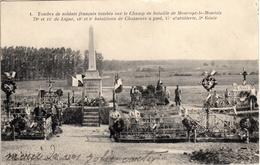 Thématiques 2018 Commémoration Fin De Guerre 1914 1918 Maurupt Le Montois Tombes De Soldats Français Tombés Au Champ - War 1914-18