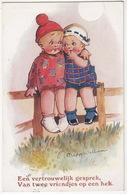 'Een Vertrouwelijk Gesprek, Van Twee Vriendjes Op Een Hek' - (Madge Williams - J.Salmon Postcard N-S 7) - 1933 - Humorkaarten