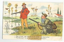 CPA Humour Chasse Rien A Faire - Hunting