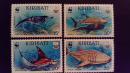 Kiribati 1991 Animal Requin Raie Manta Ray Shark Yvert 268-241 ** MNH - Kiribati (1979-...)
