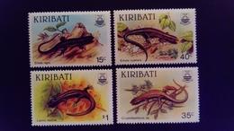 Kiribati 1987 Animal Lézard Lizard Yvert 172-175 ** MNH - Kiribati (1979-...)