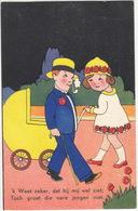 'k Weet Zeker, Dat Hij Mij Wel Ziet, Toch Groet Die Nare Jongen Niet.' - 1935, Utrecht - (Uitgever: Hofa) - Humorkaarten