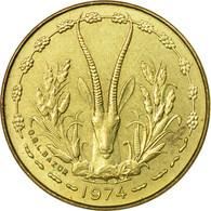 Monnaie, West African States, 5 Francs, 1974, Paris, TB+ - Côte-d'Ivoire