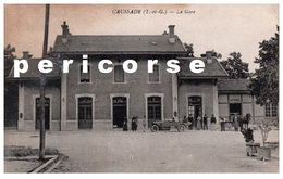82  Caussade  La Gare Vue  Extérieure - Caussade