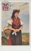 10-Cecoslovacchia-Costumi-Mestieri: Contadina-Nuova Datata 1928 - Europa