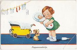 'Poppenmoedertje' - ( WS + SB 8457 - 1934, Amsterdam) - Humorkaarten