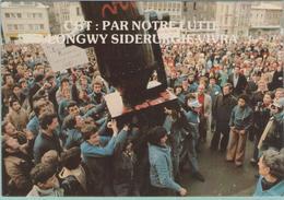 CPM:  C.G.T.: Par Notre Lutte LONGWY  Sidérurgie Vivra.  (Dpt.54) :Les Flammes De L'espoir Longwy Le 24/01/79  (E1233.) - Strikes