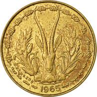 Monnaie, West African States, 5 Francs, 1965, Paris, B+, Aluminum-Nickel-Bronze - Côte-d'Ivoire