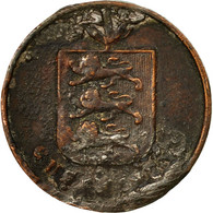 Monnaie, Guernsey, Double, 1830, TB, Cuivre, KM:1 - Guernsey